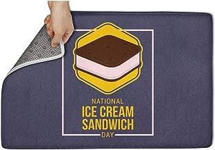 CVBRLFDD National Ice Cream Sandwich Day Yellow Box White Door Mat Rugs Non Slip Non-Slip Door Mat for Front Printted Waterproof Fashion Gym 31