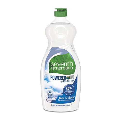 Seventh Generation Fragrance Free Dish Liquid Soap 25 oz