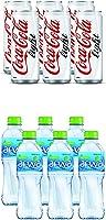 مشروب كوكا كولا لايت الغني بالكربون في علبة 330 مل (عبوة من 6 قطع) + مياه الشرب من ارو، 500 مل (عبوة من 6 قطع)