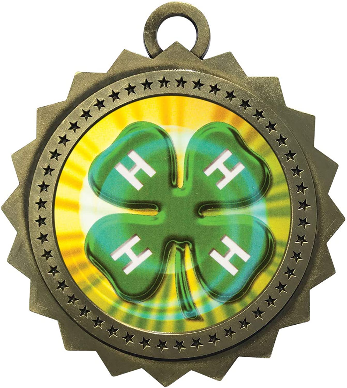 Express Medals 1~50パック 4H 金メダル トロフィー賞 ネックリボン付き D03-MY423
