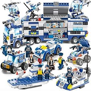 レゴ市警察、市警デパートメントセット、市セット、警察セット、機動隊中央指令玩具、パトカー、パトカー(人を含む)