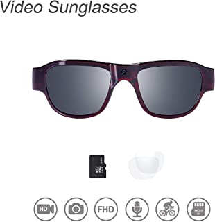 OhO sunshine THB588F OHO Video Sunglasses, 32GB Ultra HD Outdoor Sports Action Camera with Built in 16MP Camera and Polarized UV400 Lens, Compatiable with Prescription Lens (1920x1080)