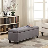 Store Furniture Urban Design Organizer Stool Chest Storage Box with Lid/Multi-Functional Collapsible Ottoman Footrest...