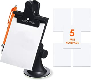Car Note Pad/Memo Pad/Clip Board with Pen Holder | Universal Suction, Flexible Neck Mount | Allows You to Take Notes While On-The-Go | Now Comes with 5 Replacement Pads of 30 Pages by Mobi Lock