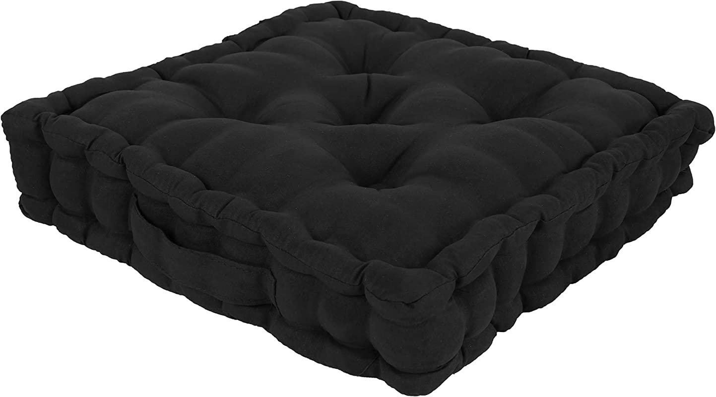 Trenton Gifts Tufted Support Padded Boosted Cushion Black