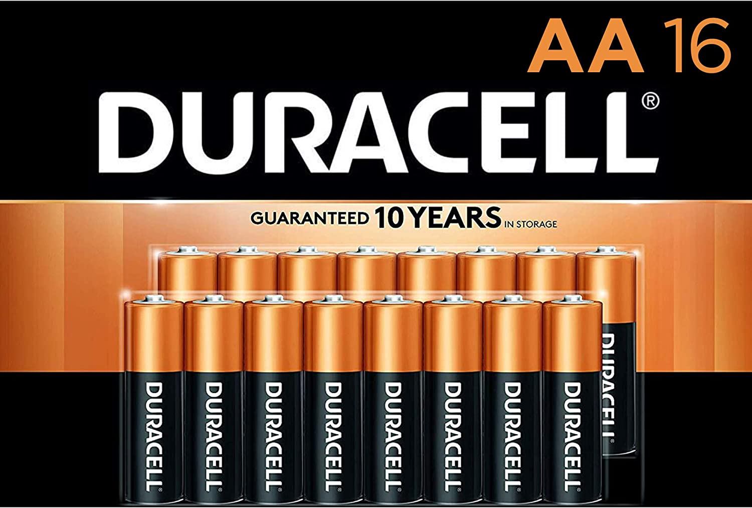 Amazon Com Duracell Coppertop Aa Alkaline Batteries Long Lasting All Purpose Double A Battery For Household And Business 16 Count Electronics