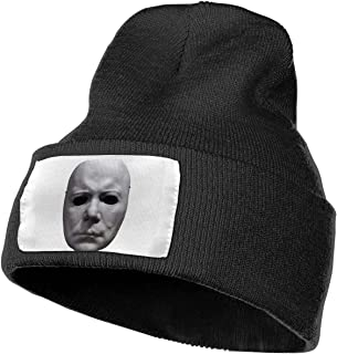 Ikinpo Official Halloween Michael Myers Mask and Drips Knit Cap Classic Beanie Hat Unisex