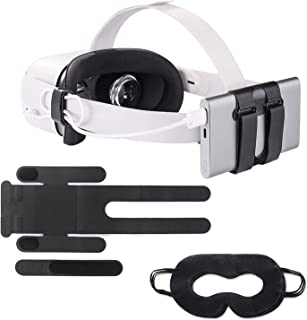 VR Power Bank Fixing Strap Battery Pack Holder for Oculus Quest/Quest 2/ HTC Vive Deluxe Audio Accessories fits Multiple S...