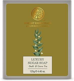 Forest Essentials Luxury Sugar Soap Oudh & Green Tea 125g