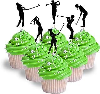 Golf Cupcake Topper Golf sport female and male Cardstock 12 per Pack Cupcake