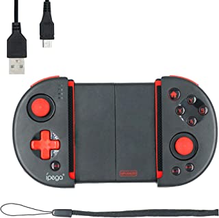 Mcbazel Joystick del controlador inalámbrico, iPega PG-9087S Red Knight Telescopic Bluetooth Controller para Android / Win...