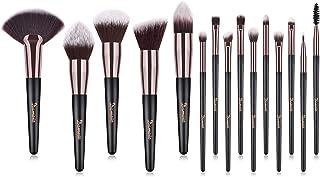 comprar comparacion Brochas de Maquillaje, 15pcs Maquillaje Profesional Pinceles Maquillaje de Ojos, Rubor, Contorno, Corrector, Pinceles Cosm...