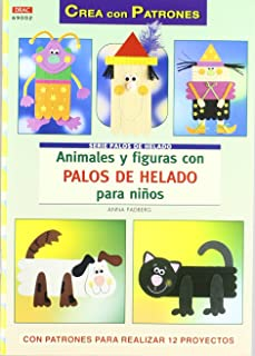 Animales y figuras con palos de helado para niños / Animals and figures with popsicle sticks