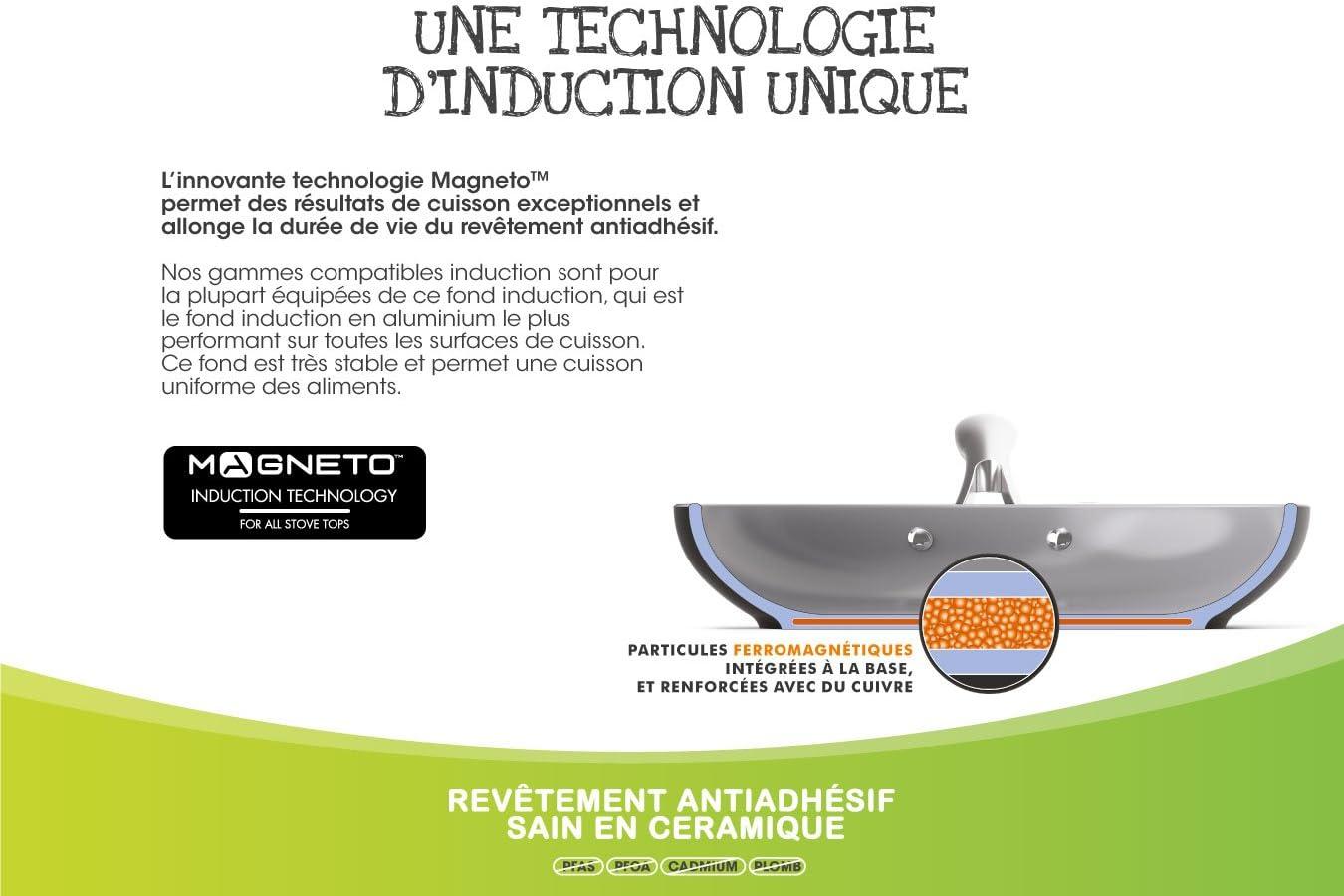 GreenChef Soft Po/êle Aluminium 30 cm Black