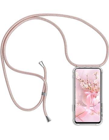 Color del Arco IRI Ptny Case Funda Colgante movil con Cuerda para Colgar iPhone XS MAX Carcasa Correa Transparente de TPU con Cordon para Llevar en el Cuello con Ajustable Collar Cadena Cord/ón