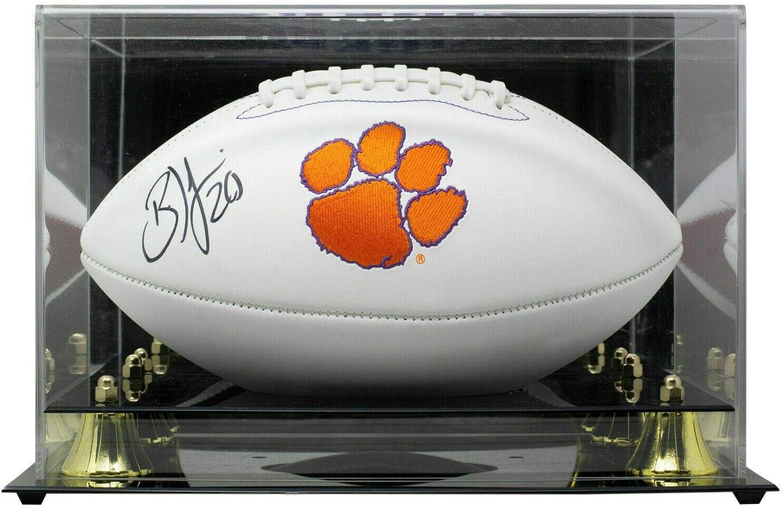 Brian Dawkins Signed Clemson Tigers White Logo Choice J Football w Same day shipping Case