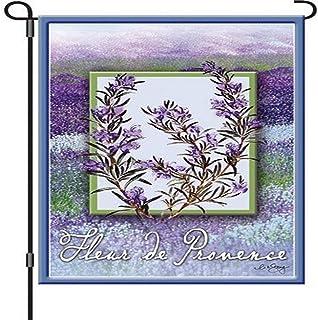 Premier Kites 51875 Garden Brilliance Flag, Fleur De Provence, 12 by 18-Inch