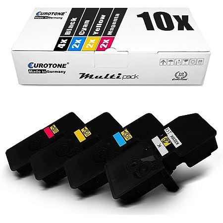 10x Eurotone Toner Für Kyocera Ecosys P 5021 Wie Tk 5230 Tk5230 Set Black Cyan Magenta Yellow Bürobedarf Schreibwaren