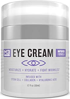 M3 Naturals Eye Cream Infused with Collagen Stem Cell and Hyaluronic Acid - Cruelty Free Paraben Free - Anti-Aging Under Eye Cream for Dark Circles and Puffiness - Reduce Fine Lines and Wrinkles 1.7oz