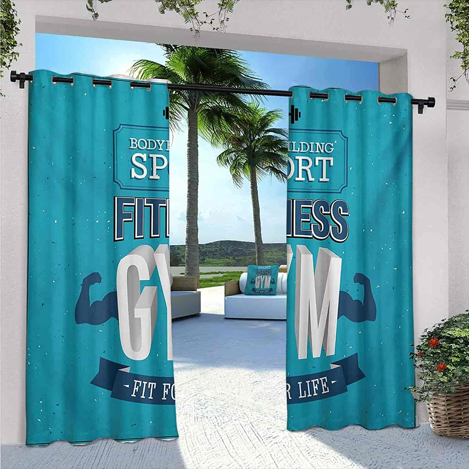 Fitness Outdoor Curtains for Patio Fit Body Life Waterproof Max 48% Ranking TOP19 OFF