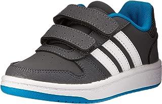 adidas Australia Boys Hoops 2.0 CMF Trainers, Grey Five/Footwear White/Shock Cyan, 11.5 US