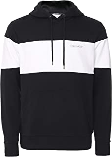 Calvin Klein Men's Cotton Loopback Colour Block Hoodie Black