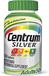 Centrum Silver Multivitamin for Adults 50 Plus, Multivitamin/Multimineral Supplement with Vitamin...