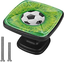 Kasten Hardware Handgrepen Voetbal Groen Gras Meubelknoppen Witte Lade Handgrepen Vierkant Trekt Decor Kwekerij Kamer Kind...