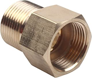 WILTEEXS Brass Pressure Washer Coupler, Metric M22 15mm Male Thread to M22 14mm Female Fitting, 4500 PSI
