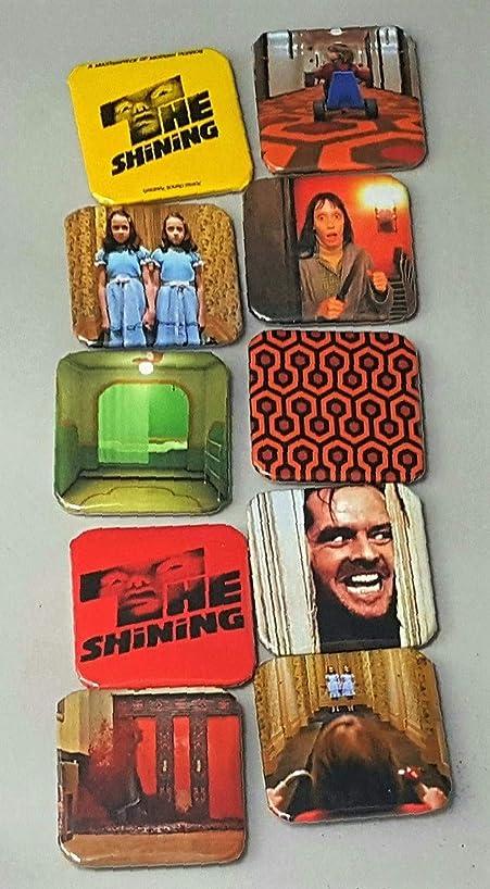 The Shining Movie Poster - The Shining Stanley Kubrick - The Shining Twins - Jack Nicholson The Shining - Horror Movie Magnets - Overlook Hotel Carpet - Jack Nicholson Movies