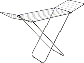 HOUZE 3-Fold Wing Clothes Drying Airer Rack, Grey, 16 Metre, (OLN-8025)
