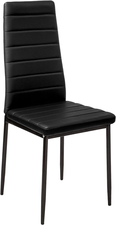 TecTake Lot de Chaise de Salle à Manger 41x45x98,5cm - diverses Couleurs et modèles au Choix - (2X Noir | No. 401838) 2x Noir | No. 401838