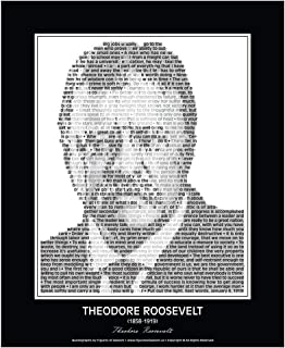 Inspirational Theodore Roosevelt Quotes Poster. Teddy Roosevelt Print made of Theodore Roosevelt quotes! Wall Art. Home Decor. Portrait. 24
