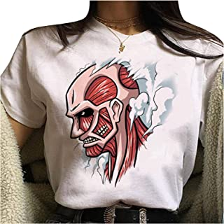 Attack On Titan Camiseta Attack On Titan Ropa Levi Ackerman Shingeki No Kyojin para Mujere de Manga Corta para Fanáticos d...