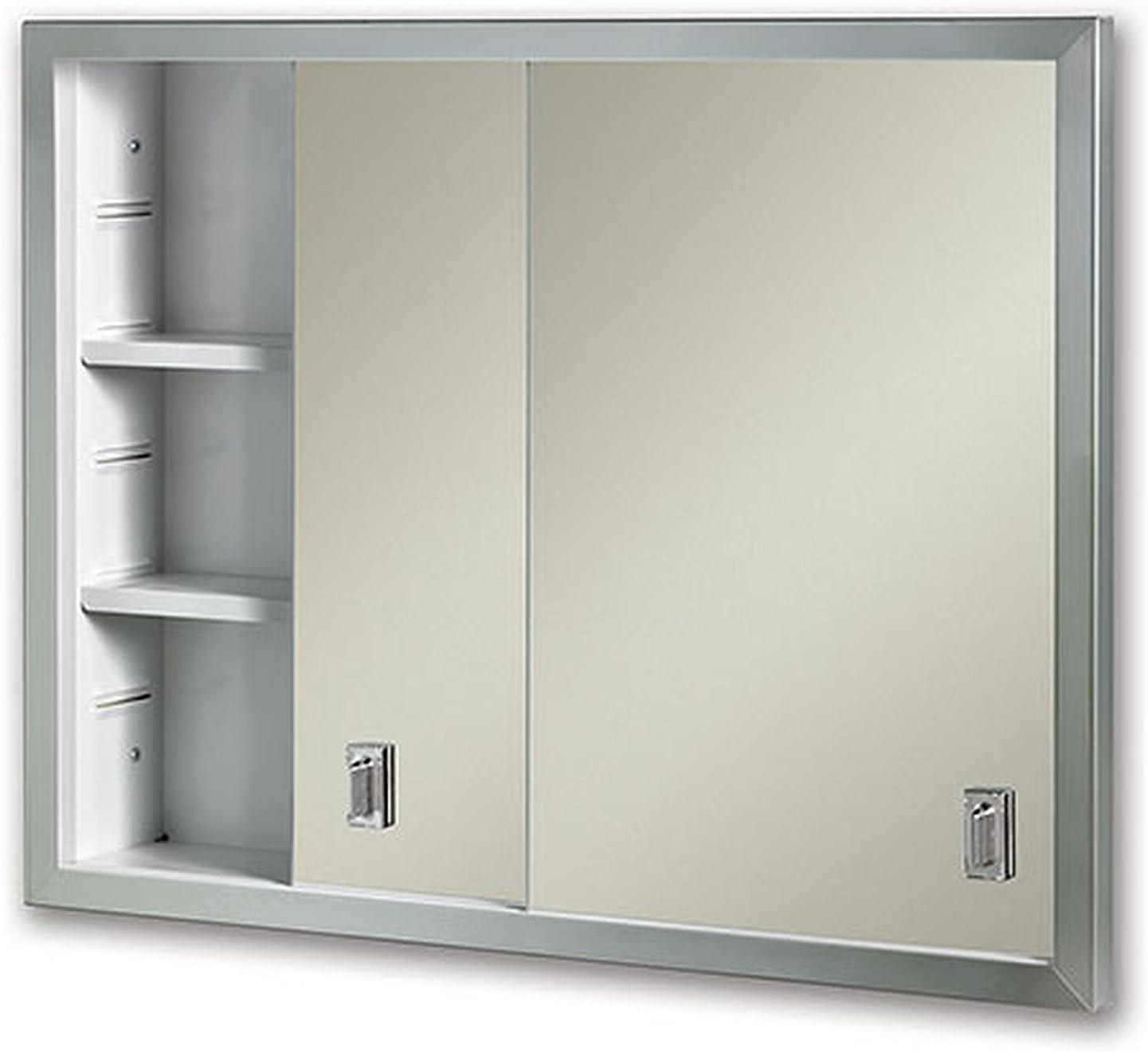 Amazon Com Jensen B704850x Sliding Doors Medicine Cabinet 24 X 19 25 Home Improvement