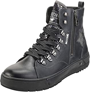 Mustang Lace Up Side Zip Womens Ankle Boots