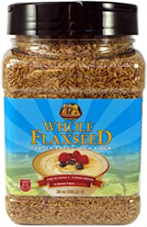 Premium Gold Whole Flax Seed | High Fiber Food | Omega 3 | 26oz