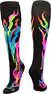 flame softball socks