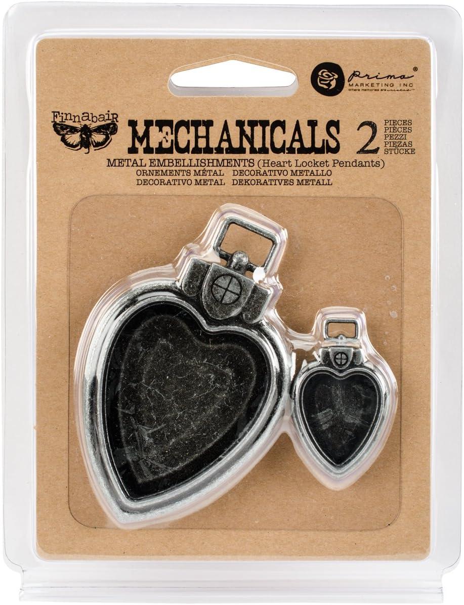 Prima Marketing 963286 Heart Japan's largest assortment Mechanica Finnabair Locket Super Special SALE held Pendants