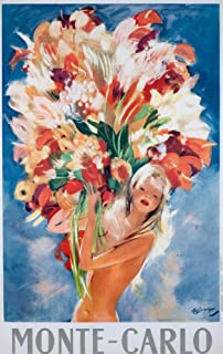 Monte - Carlo Vintage Poster (artist: Jean Gabriel) Monaco c. 1937 57981 (16x24 SIGNED Print Master Art Print - Wall Decor Poster)