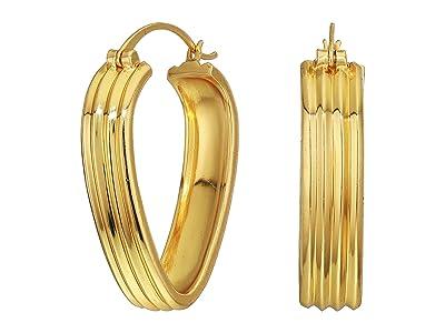 SOLE / SOCIETY Metal Midsize Hoop Earrings (12K Soft Polish Gold) Earring