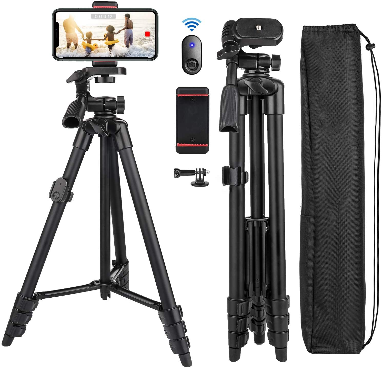 Phone Award-winning store Tripod Nagnahz 55inch Video with Stand Recording Se Japan Maker New