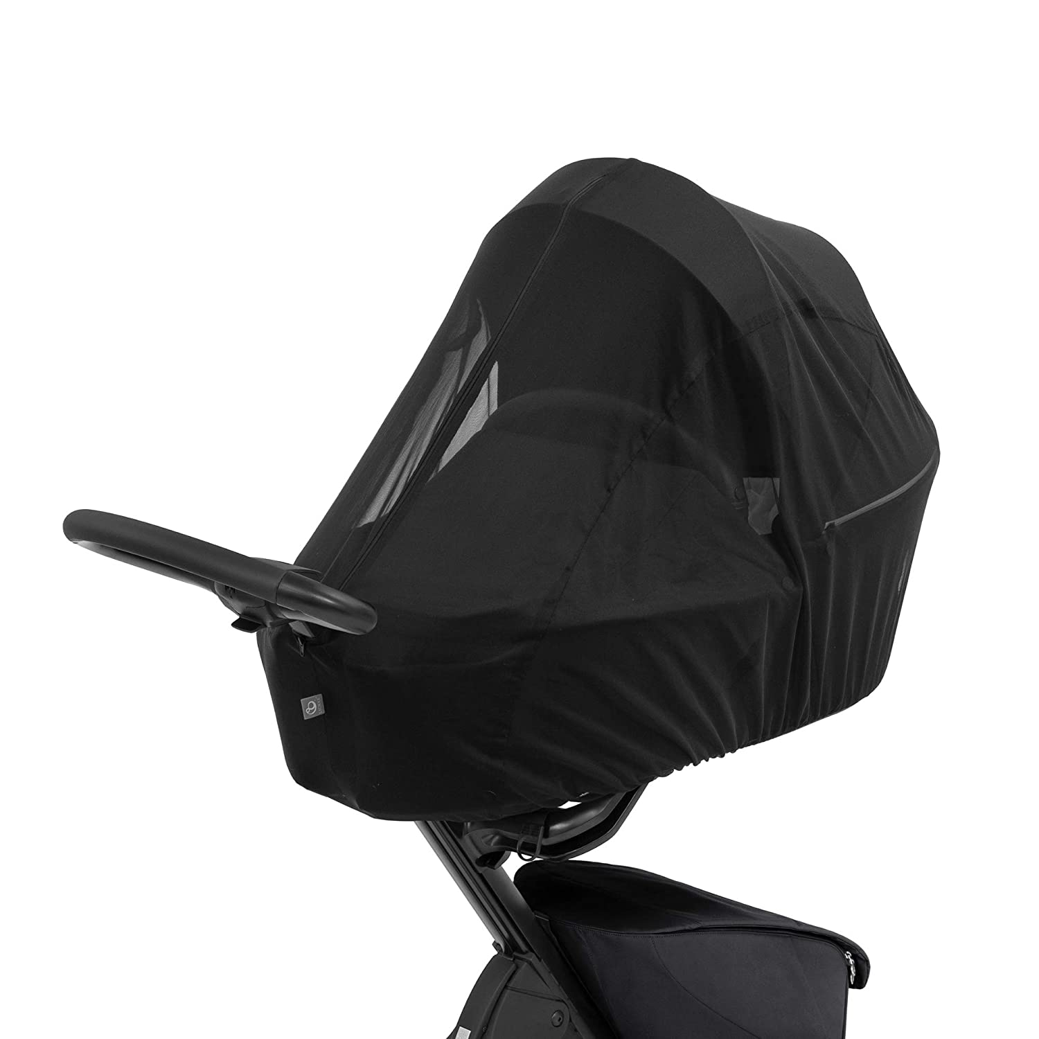 Stokke Xplory X Mosquito Net, Black - Protects Baby from Insects - Made with Breathable Mesh - Easy to Use, Transport & Store - Folds Into Integrated Accessory Bag