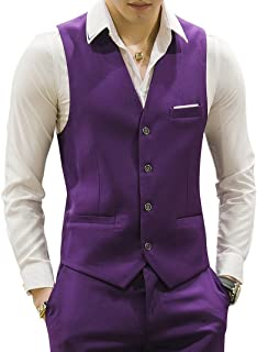 Mens Waistcoat Casual Suit Vest 18 Colors for Prom Party