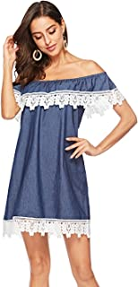 Best womens denim and lace dress Reviews