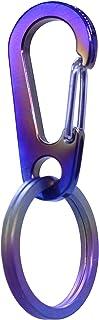 TISUR チタン キーホルダー キーチェーン カラビナ 軽量 チタンTC4 紛失防止 取付簡単 カラー (45MM)