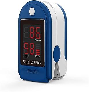 مقياس التأكسج والنبض عن الأصابع الكربونية من جوي واي، مراقب رقمي متعدد الأغراض ونسبة النبض SPO2 مع شاشة رقمية LED للرياضات...