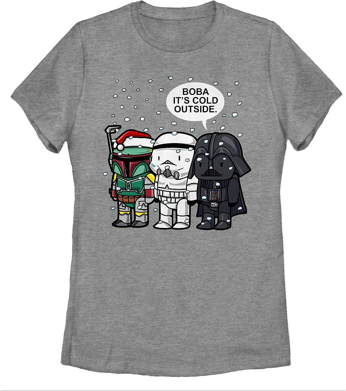 Womens Star Wars Christmas Boba Its Cold Outside T-Shirt