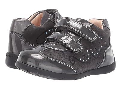 Geox Kids Kaytan 60 (Toddler) (Black/Charcoal 2) Girls Shoes