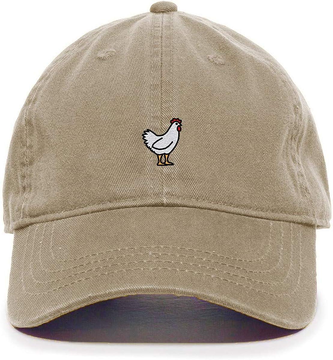 Tech Design Chicken Baseball Cap Embroidered Cotton Adjustable Dad Hat
